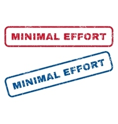 Minimal effort rubber stamps vector