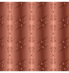 Ornamental golden background with seamless pattern vector image vector image