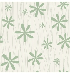 Retro floral background with camomiles vector