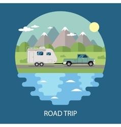 Road trip flat design vector