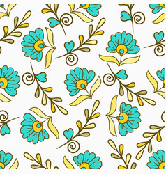 Seamless pattern with yellow and blue modern vector