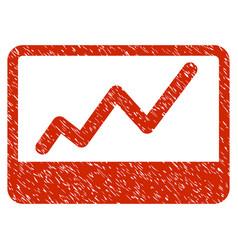 Stock market grunge icon vector