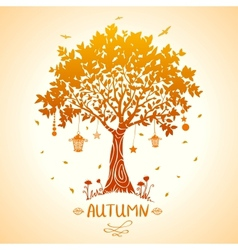 Tree autumn vector