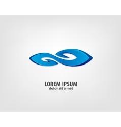 Wave logo design template vector image