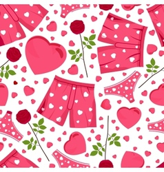 Seamless background by st valentines day vector