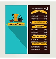 Coffee house menu restaurant template design vector