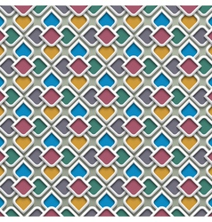 3d colored seamless pattern in islamic style vector image
