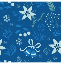 Holly seamless pattern vector
