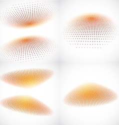 3d Halftone Backgrounds vector image vector image