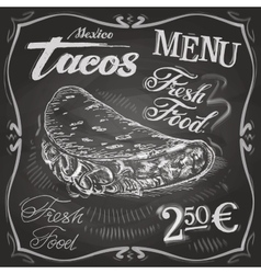 Burritos tacos logo design template fast vector