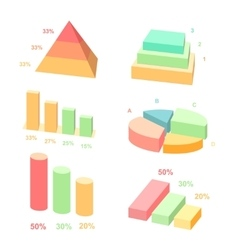 Isometric 3d charts layers graphs and vector