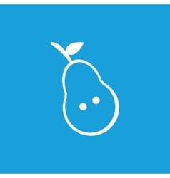 Pear half icon white vector