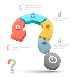Question mark business concepts with icons vector