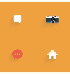 Social media objects vector