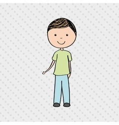 Person drawing design vector