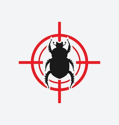 Beetle icon red target vector