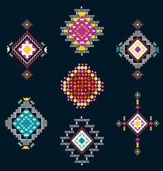Set of decorative ethnic american vector