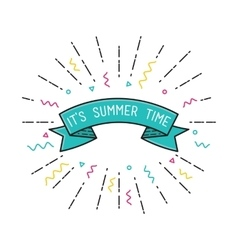 It is summer time poster flat design vector