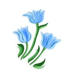 Blue tulips set vector