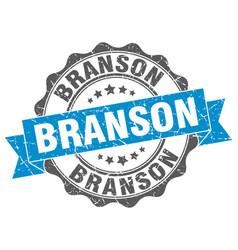 Branson round ribbon seal vector