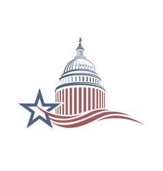 Capitol building icon vector