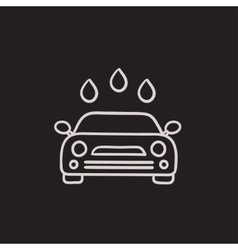 Car wash sketch icon vector image vector image
