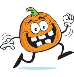 Cartoon running pumpkin vector