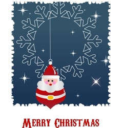 Christmas background with santa and snow vector image