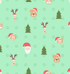 Christmas team pattern vector image vector image