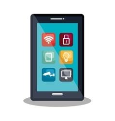 digital technology design vector image