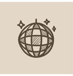 Disco ball sketch icon vector image vector image