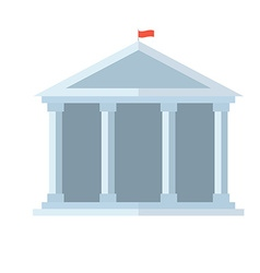Education temple icon vector