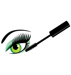 Eye green mascara vector