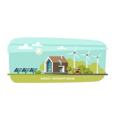 Green energy eco house ecology vector