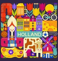Holland Symbols vector image vector image