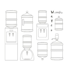 Icons for water cooler appliance vector