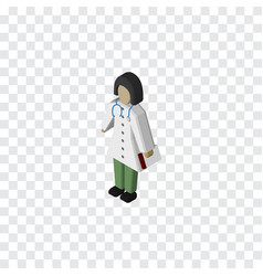 Isolated medic isometric doctor element vector