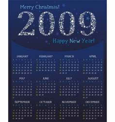 magical calendar for 2009 vector image vector image