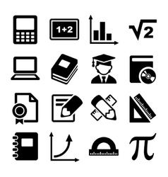Mathematics Icons Set vector image vector image