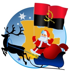 Merry Christmas Angola vector image vector image