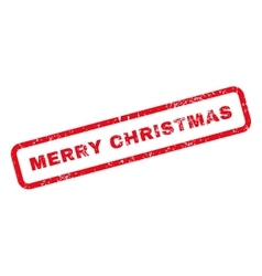 Merry christmas text rubber stamp vector