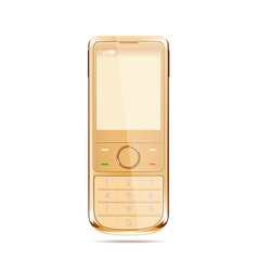 modern smart phone in yellow color vector image vector image