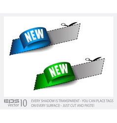 new sticker tag vector image
