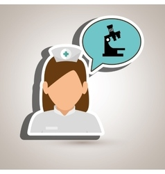 Nurse tooth health speech vector