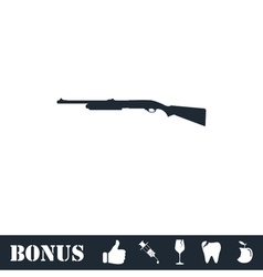 Shotgun icon flat vector image