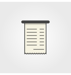 Simple bank check icon vector