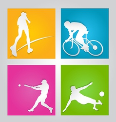 sport paper cut element vector image vector image