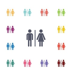 toilet flat icons set vector image