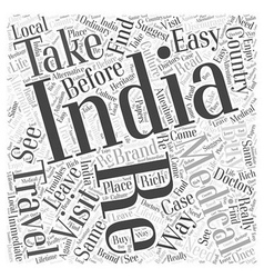 Travel in india word cloud concept vector
