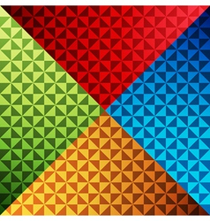 triangle shape colorful pattern background vector image